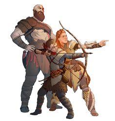 GoW Kratos, Atreus & Aloy