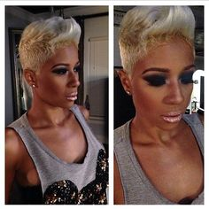 Should I!?!! Ummmmm. I've had platinum b4 might try it again! But this hair is hot! And she's definitely rocking it well