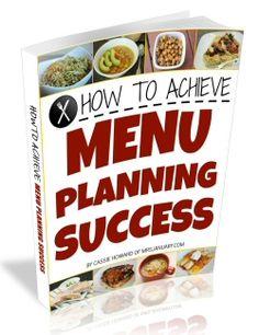 Menu Planning Success -MrsJanuary.com