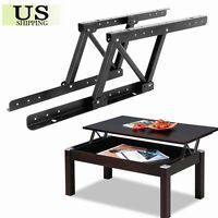 1pair Top Coffee Table Furniture Mechanism Lift Up Hardware Fitting Spring Hinge