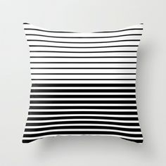 Lines - BW Throw Pillow