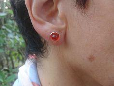 Carnelian Jewelry Carnelian Earrings Silver by AMjewelryStudio