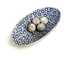 Blue And White Bowl Fruit Bowl ,Home And Living Hostess Gift (€48) ❤ liked on Polyvore featuring home, kitchen & dining, serveware, blue and white bowl and blue white bowl