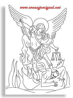 coloring saint michael wwwarcanjomiguelnet