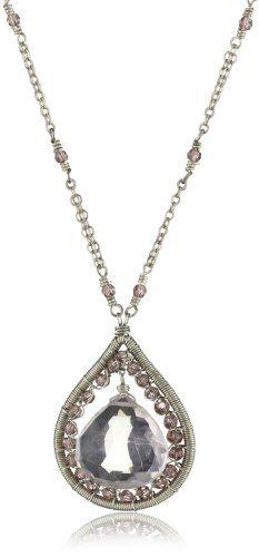 Dana Kellin Feminine Hand - Stitched Rose Quartz and Crystal Delicate Pendant Necklace DANA KELLIN,http://www.amazon.com/dp/B007EK214M/ref=cm_sw_r_pi_dp_jAdRsb1FV3VGC296