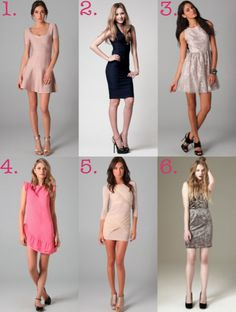 Love these dresses Lauren posted for Style Guide: New Year's Eve. But these dresses can be worn all year. 3 is my favourite :)