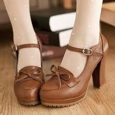 Cheap shoe display, Buy Quality shoe shoe directly from China shoes kids shoes Suppliers: 2015 New Mary Janes Spring Women Round Toe Pumps Sweet Bowtie platform Lolita Shoes Fashion Pu Buckle Party Cosplay Dres Dr Shoes, Pump Shoes, Me Too Shoes, Shoe Boots, Shoes Heels, Platform Shoes, Bow Sandals, Shoe Shoe, High Shoes