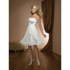 LOVE this dress  Second Wedding Dresses for Older Brides Simple Chiffon Style