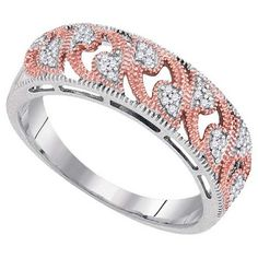 .09 Carat Brilliant Round Diamond Ring Wedding Band