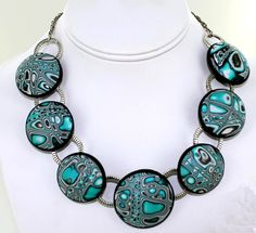 premo! Mokume Gane Hollow Bead and Link necklace tutorial by Patti Kimle for Polyform