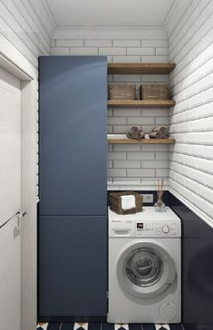 Outdoor Laundry Rooms, Modern Laundry Rooms, Laundry Cupboard, Laundry Room Organization, Small Space Interior Design, Home Interior Design, Washing Machine In Kitchen, Living Room Partition Design, Laundry Room Design