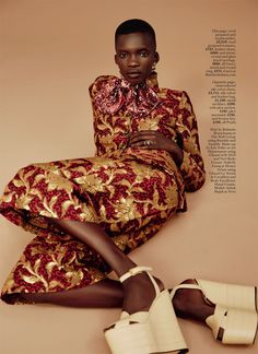 rich rewards: achok majak by david roemer for uk marie claire september 2016 | visual optimism; fashion editorials, shows, campaigns & more!