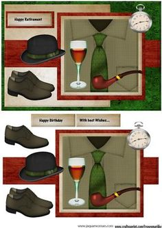 Male card Men s Clothes on Craftsuprint designed by Marijke Kok - Great male card for any occasion.