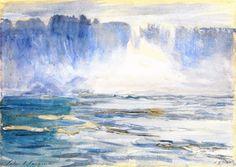 """Niagara Falls"", Watercolour by John Singer Sargent (1856-1925, Italy)"