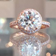 Rose Gold Engagement Ring - The InLove setting by Marisa Perry
