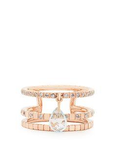 Diamond, topaz & rose-gold Cosmos ring Diane Kordas