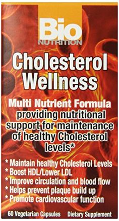 Bio Nutrition Cholesterol Wellness VegiCaps 60 Count * Visit the image link more details. (This is an affiliate link)