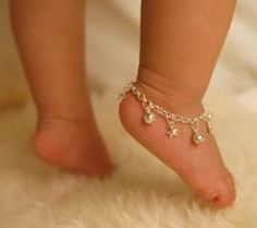 Sterling Silver Jingle Bells & Stars Anklet  Baby by danitaapple, $36.00