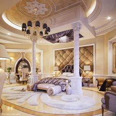 "Luxury ""Master Bedroom"" by Muhammad Taher, via Behance...i dont think the presidents room looks this elegant..hahaha"