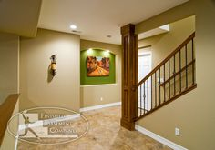 Basement Stairway Designs | Finished Basement Company - Oswego Basement - Denver, CO