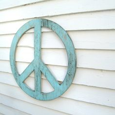 "Big Peace Sign  24"" Peace Symbol Large Rustic Shabby Chic Style You Pick the Color. $70.00, via Etsy."