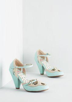 ❤ Triple Your Fancy Heel in Mint, @ModCloth