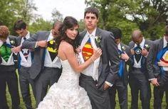 Das ist ja mal ein cooles Hochzeitsfoto!