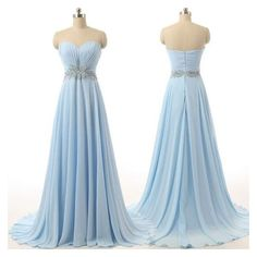 Sexy Evening Dress,Light Blue Chiffon Prom Dress,Long Prom... ❤ liked on Polyvore featuring dresses, gowns, blue ball gown, long blue dress, sexy evening dresses, blue gown and sexy prom dresses