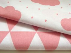 Baby cib sheet pink clouds and rain in size 120x60 cm  Made from 100% soft cotton.  In the corners are elastics.  Made to order.   Ready to ship in 5-7 days.  If you would like a...