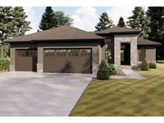050H-0204: Small Contemporary House Plan; 1734 sf