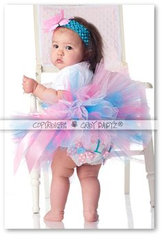 COTTON CANDY Custom Personalized Baby Bloomers Diaper by Crybabyz