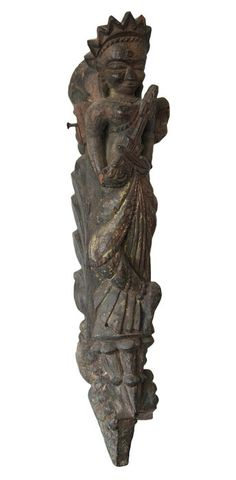 Currently at the #Catawiki auctions: Large temple element of Saraswati - Tibet -  18th century