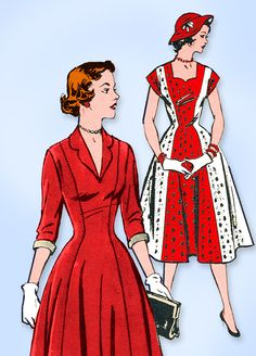 Excited to share the latest addition to my #etsy shop: 1950s Original Vintage Mail Order Pattern 2030 Misses Princess Dress Sz 30 Bust http://etsy.me/2FCNuju #supplies #sewing #missespattern #sewingpatterns #1950spatterns #vintagepatterns #womenspattern #mailorderpatte