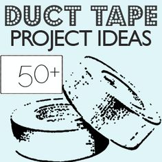 Round up of over 50 duct tape crafts with pics!