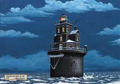 Fourteen Foot Bank Light, DE. Bay - 1916    (Delaware Bay)