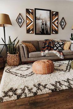 Boho Living Room, Home And Living, Modern Living, Bohemian Living, Modern Room, Earthy Living Room, Moroccan Decor Living Room, Western Living Rooms, Bohemian Homes