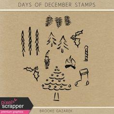 Days of December Stamps Kit