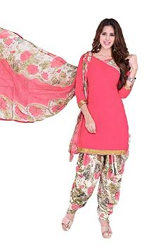 Women's Crepe Salwar Kameez Suitt Unstitched Dress Material - http://www.zazva.com/shop/women/womens-crepe-salwar-kameez-suitt-unstitched-dress-material/ ★★★★★ Product Material : Crepe (This light weighing material feels so comfortable on your skin) ★★★★★ Length : Kameez ( Top ) – 2.50 Meters, Salwar ( Bottom ) – 2.00 Meters, Dupatta ( Scarf ) – 2.50 Meters ★★★★★ Wash Instruction : Machine Wash or Mild Hand Wash is Recommended