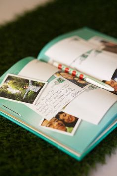Oh, cute, cute, cute, Q-YUTE!!! Excuse me while I steal all the ideas from this wedding. Guestbook.