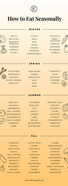 how to eat seasonally || what produce is in season for every season