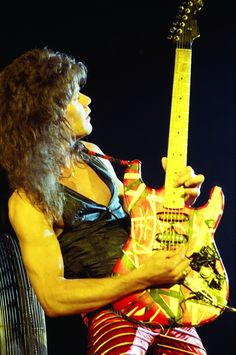 Eddie van Halen, musician, songwriter and producer. He is best known as the lead… Alex Van Halen, Eddie Van Halen, Rock N Roll, Samba, David Lee Roth, Best Guitarist, Greatest Rock Bands, Rock Legends, Sammy Hagar