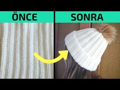 💥The Easiest Hat Ever! Crochet winter hat but knit look and beginner friendly ribbed hat pattern. You can make this crochet hat for eve. Crochet Hat Tutorial, Easy Crochet Hat, Crochet Winter Hats, Easy Crochet Patterns, Knitted Booties, Beanie Pattern, Yarn Shop, Knit Beanie, Beanie Hats
