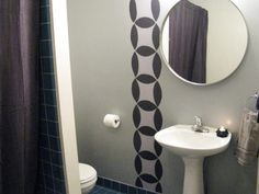 half bathroom ideas - Want a half bathroom that will impress your guests when entertaining? Update your bathroom decor in no time with these affordable, cute half bathroom ideas. Pedestal Sink Bathroom, Cheap Bathroom Vanities, Half Bathroom Decor, Cheap Bathrooms, Bathroom Floor Tiles, Amazing Bathrooms, Bathroom Ideas, Bathroom Updates, Bath Decor