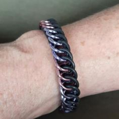 Rubber chain mail armband