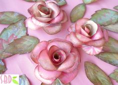 Rose e Farfalle di Carta - Paper Roses and Butterflies