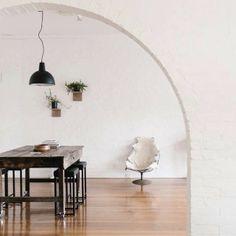 Light, table, stools
