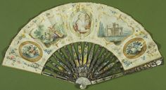 Painted paper fan, given to Queen Victoria by Prince Albert. Royal Collection Trust
