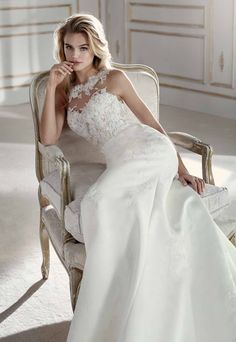 772b644f27 Vestido de novia La Sposa Modelo Prospera - Eva Novias Bateau Neckline