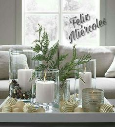 London Glass Hurricane Candle Holders - Home Decor Ideas - . - London Glass Hurricane Candle Holders – Home Decor Ideas – - Silver Christmas, Christmas Home, Christmas Crafts, Cottage Christmas, Magical Christmas, Christmas Ornaments, Beautiful Christmas, Christmas Wreaths, Decoration Table