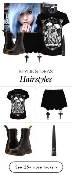 """""""your life's not simple and you can't stop it from showing"""" by frerardforever on Polyvore featuring Chicnova Fashion and Dr. Martens"""